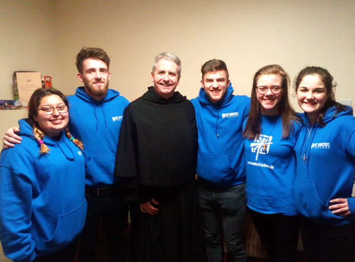 Fr Colm and the NET Ministries team.